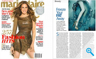 Photo of a magazine featuring Coolsculpting™