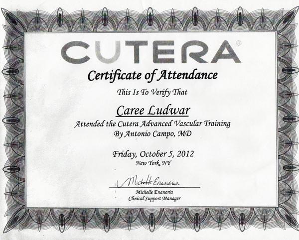 Cutera Certificate